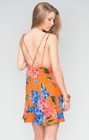 MUMU Criss Cross Applesauce Mini Dress ~ Bahama Bloom