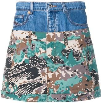 Diesel short layered skirt
