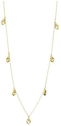 Kate Spade Shining Spade Long Scatter Necklace (Clear/Gold) Necklace