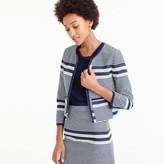 J.Crew Jacket in striped navy tweed
