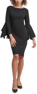 Calvin Klein Split-Sleeve Sheath Dress
