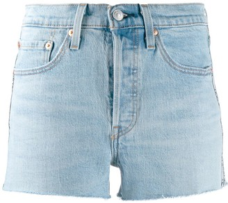 Levi's logo trim denim shorts