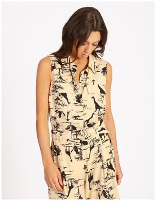 Hi There From Karen Walker Safari Sleeveless Shirt Lt