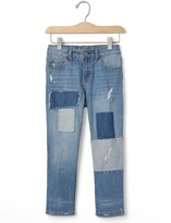Gap 1969 Patchwork Straight Ankle Jeans