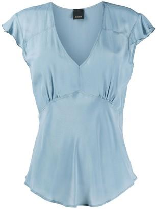 Pinko Short-Sleeve V-Neck Top