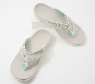 Spenco Orthotic Thong Sandals - Yumi Gingham
