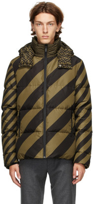 Fendi Reversible Tan and Black Down Forever Puffer Jacket