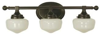 Landgraf Charlton Home 3-Light Vanity Light Charlton Home Color: Polished Nickel