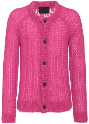 Prada Ribbed Knitted Cardigan