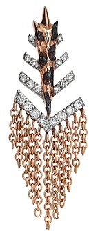 Kismet by Milka 14K Rose Gold Diamond Dashed Arrowhead Fringe Earring