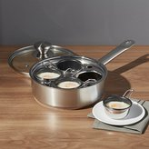 Crate & Barrel ZWILLING ® Demeyere Resto 4-Cup Stainless Steel Egg Poacher Set