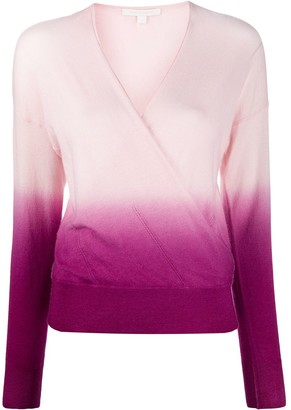 Jonathan Simkhai Long-Sleeved Ombre Wrap Top