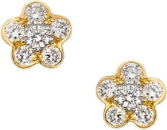 Sethi Couture Tuileres Diamond Flower Stud Earrings