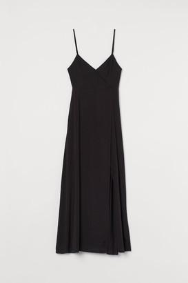 H&M V-neck Maxi Dress - Black