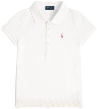 Ralph Lauren Kids Lace Trim Polo Shirt (5-6 Years)