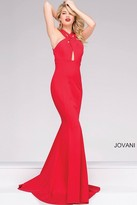 Jovani Long Sleeveless Keyhole Neckline Dress 40379