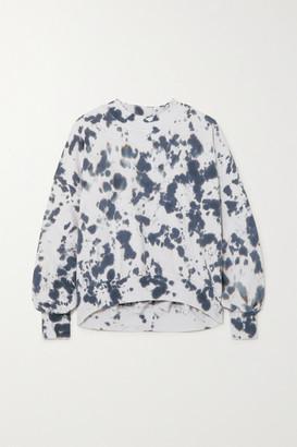 Bassike Cutout Tie-dyed Cotton-jersey Sweatshirt - Navy