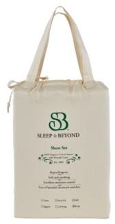 """Sleep & Beyond Organic Cotton Sheet Set, Split Cal King, Up to 18"""" Bedding"""