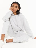 Thumbnail for your product : New Look Tie Hem Hoodie - Grey