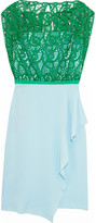 Vionnet Guipure lace-paneled washed silk-blend dress