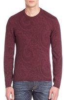 Etro Tonal Paisley Printed Wool Sweatshirt