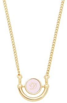 brook & york 14K Gold Plated Ava Petite Initial Enamel Necklace
