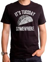 Goodie Two Sleeves Black 'It's Tuesday Somewhere' Taco Tee - Men's Regular