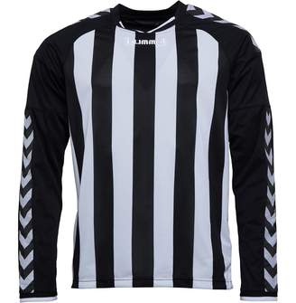 Hummel Mens Stay Authentic Striped Long Sleeve Match Jersey Black/White