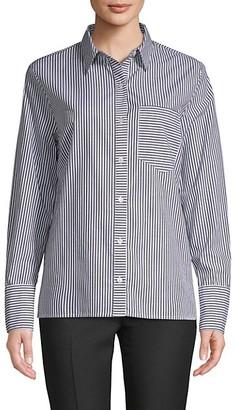 Pure Navy Striped Poplin Shirt