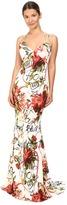 Philipp Plein Floral Sleeveless Long Dress