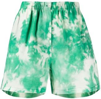 Alanui Tie-Dye Print Shorts