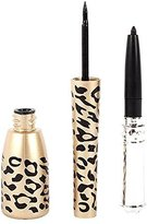 Shot-in Leopard Bottle of 2 in 1 Black Waterproof Liquid Eyeliner and Pen