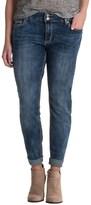 Rhythm in Blues Stretch Skinny Jeans - Faded Denim (For Women)