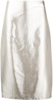 Nina Ricci Metallic Pencil Skirt