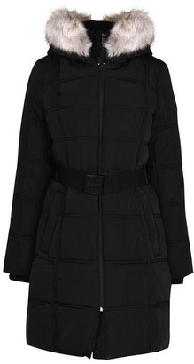 DKNY Belted Long Puffer Jacket