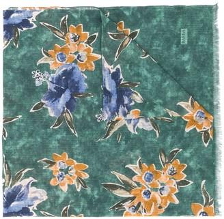 Barba Floral-Print Woven Scarf