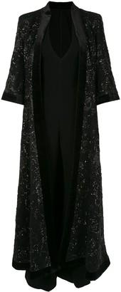 Saiid Kobeisy V-neck sheer embellished dress