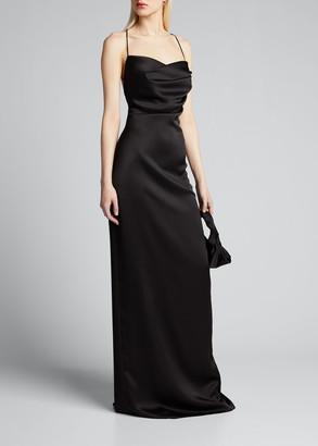 Rasario Cowl-Neck Maxi Slip Dress