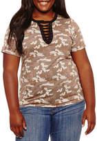 Arizona Short Sleeve Graphic T-Shirt-Juniors Plus