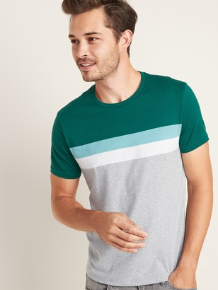 Old Navy Soft-Washed Color-Blocked Chest-Stripe Tee for Men