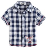 3 Pommes Infant Boys' Check Short Sleeve Shirt - Sizes 3-24 Months