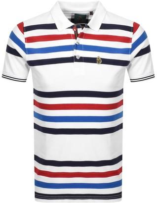 Luke 1977 Striped New Mead Polo T Shirt White