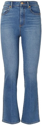 Tory Burch CROPPED BOOT-CUT MARBLE JEAN