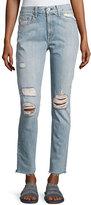 Rag & Bone Marilyn Distressed Straight-Leg Jeans, Union Pool