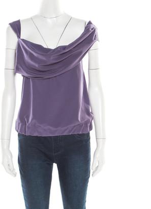 Vivienne Westwood Purple Draped Sleeveless Top S
