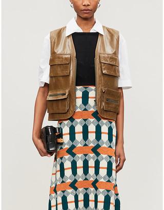Sonia Rykiel Vestiaire Collective leather gilet
