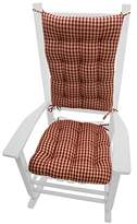 "Rocking Chair Cushions - Checkers Red & Tan - Size Extra-Large - Latex Foam Fill, Reversible - 1/4"" Check"