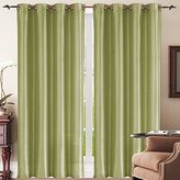 Simple Elegance New York Faux Silk Window Curtain (Sage)
