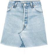 RE/DONE high waisted denim mini skirt - women - Cotton - 26