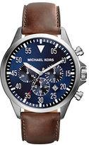 Michael Kors Gage Silvertone Chronograph Watch